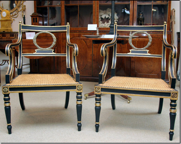 gilt regency period armchairs from england circa 1810 for 28 500