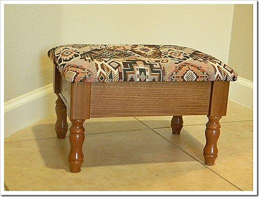 Old footstool