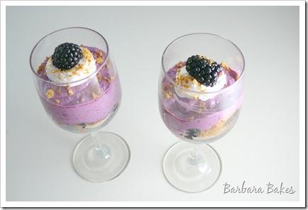 Blackberry Cheesecake Pots