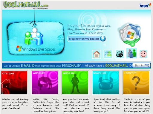 Cool Hotmail - Choose Cool personalized custom hotmail email id image