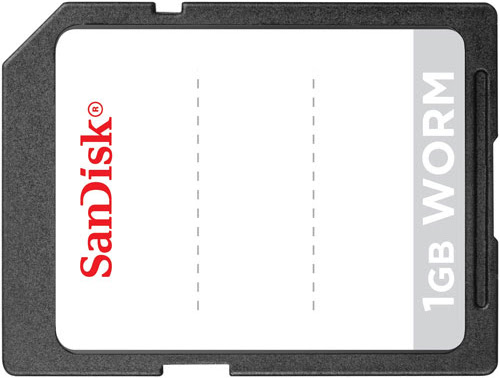 Sandisk Tamper Proof SD WORM Write Once Read Many Memory Cards can store images for 100 years