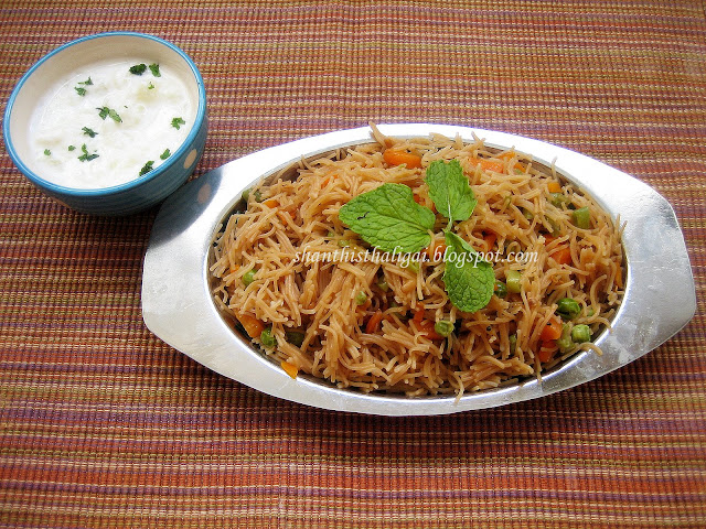 Satvik semiya biryani recipe, How to make vermicelli biryani