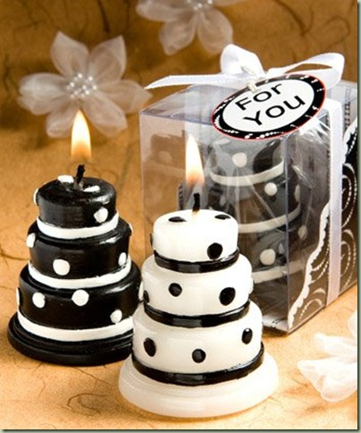 wedding cake candles favors wedding favors black and white wedding cake 22157