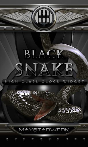 Black Snake Clock widget