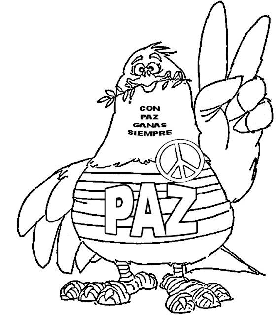 La Paz Colorear Dibujos De La Paz