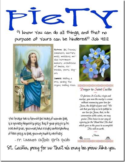 Joy Filled Family St Cecilia Piety