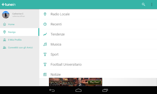 TuneIn Radio- miniatura screenshot