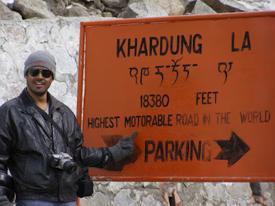 Sushil, posing in front of the Parking sign @ K-Top
