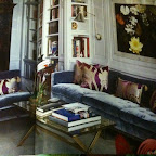 Yum...silk velvet sofa in icy blue
