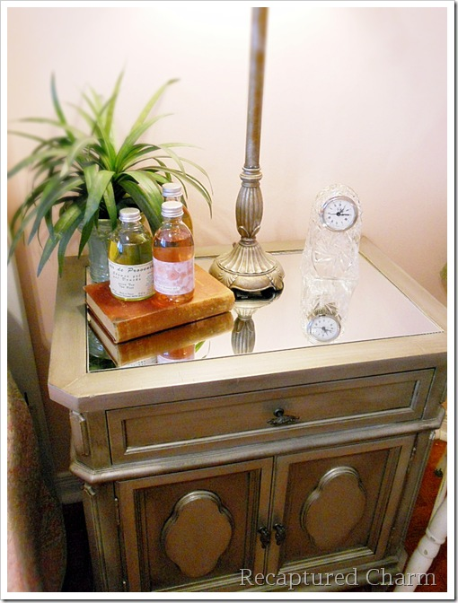 Silver Metallic Night Stands 059a