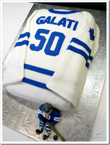 Happy Birthday Toronto Maple Leafs Fondant Cake
