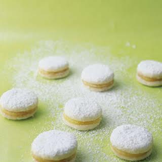 Petite Lemon Curd Cookies.