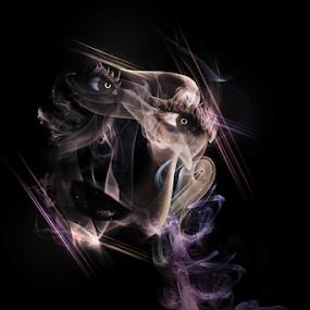 Smoky eyes by Ricardo Marques - Illustration Abstract & Patterns ( girl, smoky, smoke, eyes )