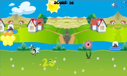 Honey Bee vs Alien Invasion- screenshot thumbnail