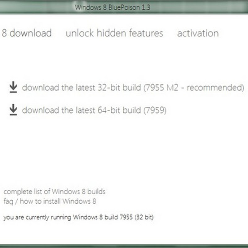 View topic windows 8 bluepoison: download/activate/unlock.
