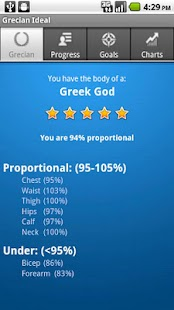 Grecian Ideal Body Tracker- screenshot thumbnail