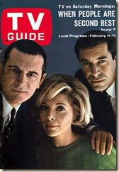 Stephen Hill, Barbara Bain, and guest star Martin Landau