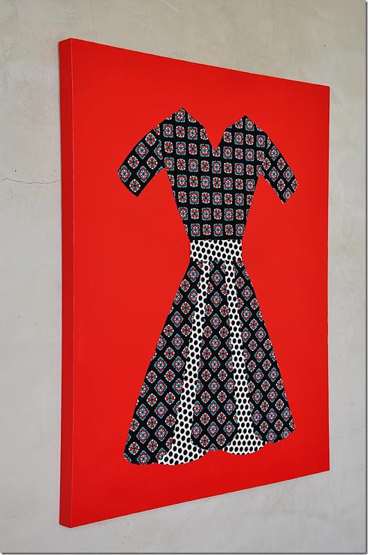 fabric dress wall art 032