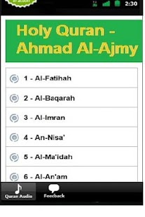 Holy Quran - Ahmad Al-Ajmy - Android Apps on Google Play