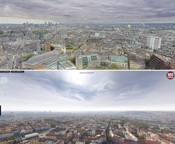 высококачественные панорамы лондона и праги