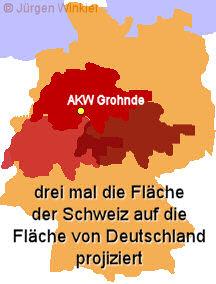 Verstrahlte Gebiete Deutschland