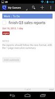 Screenshot of GQueues | Tasks & To-Do Lists
