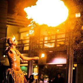 Man on Fire by Shahnila Ejaz - People Professional People
