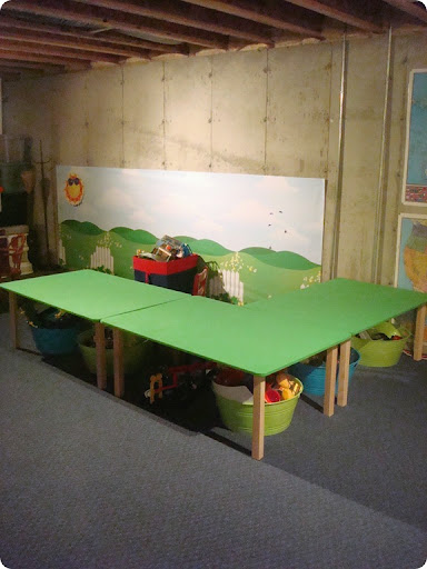 I mean come one \u2013 that is some serious train table goin\u0027 on. Hubby has big plans to get one killer Thomas set up going on these. & Before and After Party: Choo choo! from Thrifty Decor Chick