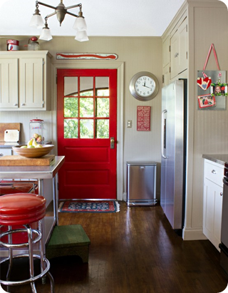 red door kitchen