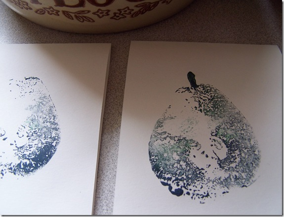 how to print with pears
