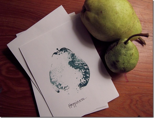 make your own pear print cards
