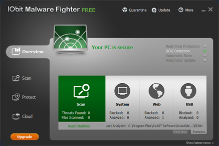 Free Anti-Malware IObit Malware Fighter