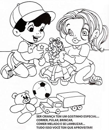 Dibujos Para Colorear De Niños Y Niñas