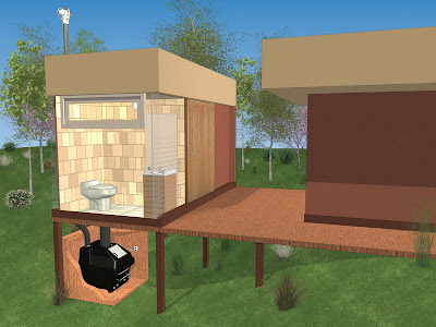 Envirolet Waterless Remote Composting Toilet System