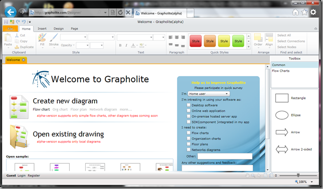 Grapholite in a Browser
