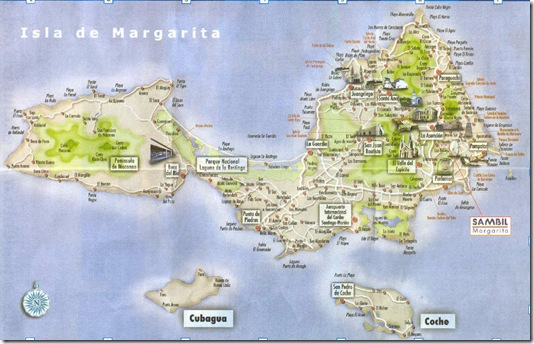 Isla Margarita map