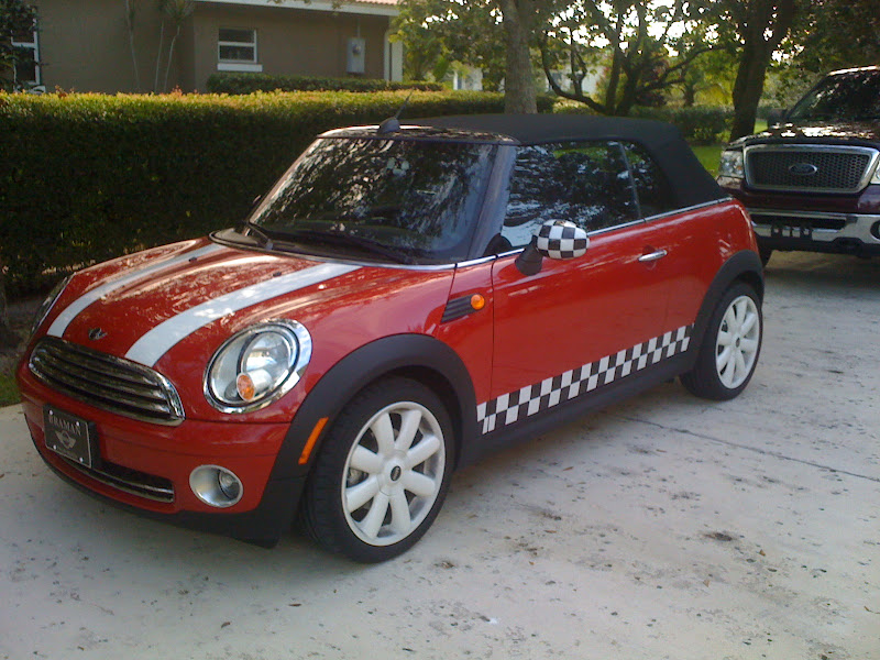 Custom Mini Cooper Checkered Vinyl Decal Stripe Kit Ebay