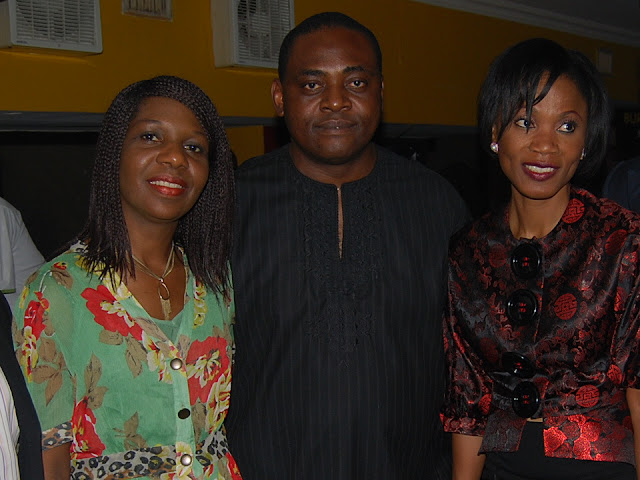 Mr and Mrs Edwin Moore with Funmi Iyanda