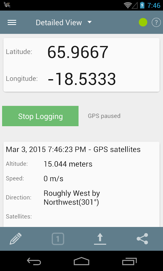 GPS Logger for Android- screenshot