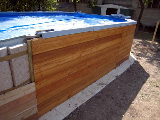 habillage bois et isolation piscine hors sol piscines r alisations. Black Bedroom Furniture Sets. Home Design Ideas