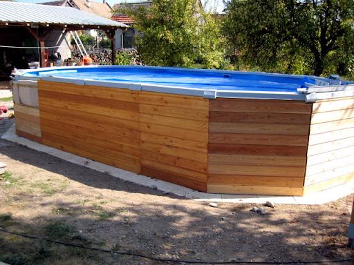 Habillage bois et isolation piscine hors sol piscines Habillage piscine hors sol