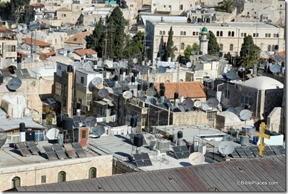 Old City rooftops with satellite dishes, tb011610639
