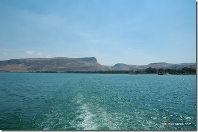 Sea of Galilee view west to Arbel and Magdala, tb060105640