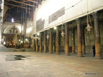 Bethlehem Church of Nativity interior, tb102603439
