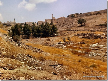 Hinnom Valley with Sultan's Pool from south, db6607262508