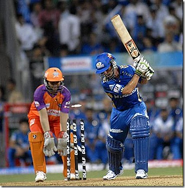 Mumbai put on 61 for the first wicket in under nine overs but Davy Jacobs, who had just contributed 12