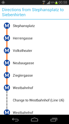 Vienna Metro Map - screenshot