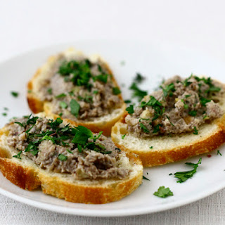 Mushroom and Chestnut Pate with Goat Cheese.