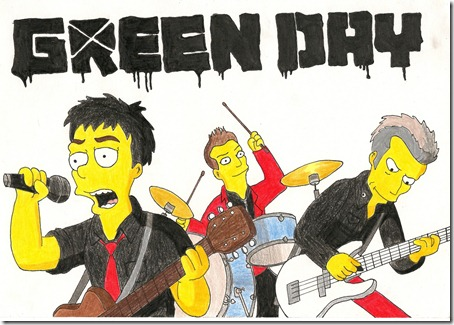 Green_Day_as_The_Simpsons_by_RadioactivePencil