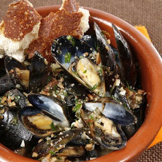 Roasted Mussels.